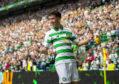 Mikey Johnston celebrates scoring the first goal of the Premiership season