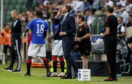 Rangers manager Steven Gerrard issues instructions from the sidelines.