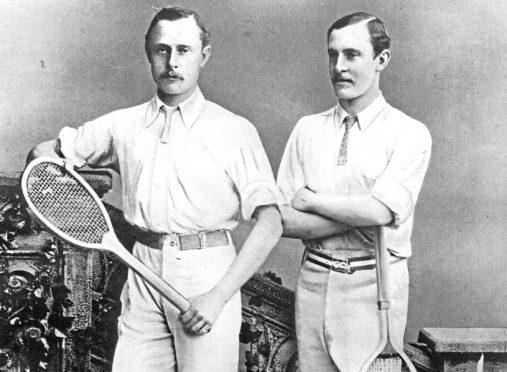 1880:  British tennis brothers William and Ernest Renshaw.