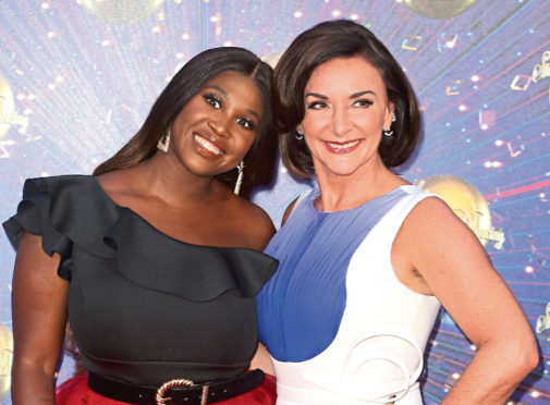 "Motsi Mabuse and Shirley Ballas attend the ""Strictly Come Dancing"" launch show red carpet at Television Centre."