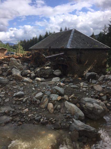 Damage to property on Loch Katrine