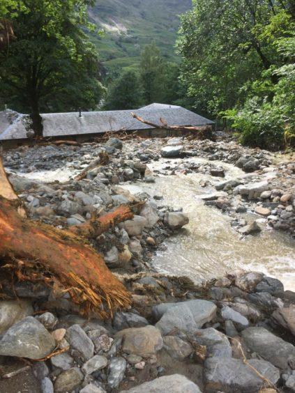 Damage to a property on Loch Katrine
