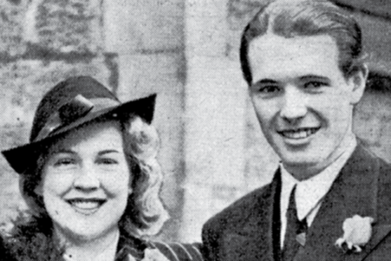 Newlyweds Lorna Tarbat and Kenneth Tuckfield as pictured on page three of our September 3, 1939 edition inside today's Sunday Post.