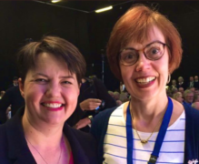 Jane Lax (right) with Scottish Conservative party leader Ruth Davidson (left).