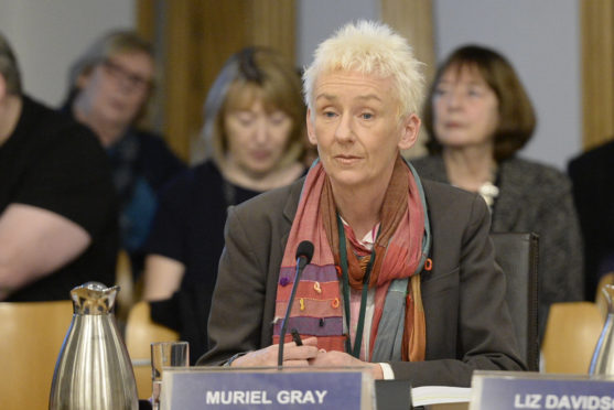 Muriel Gray, Chair of the Board of Governors of Glasgow School of Art, gives evidence to the Scottish Parliament's Culture Committee, following two catastrophic fires which destroyed the celebrated Mackintosh Building, designed by renowned Scottish architect Charles Rennie Mackintosh