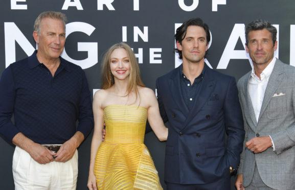 Kevin Costner, Amanda Seyfried, Milo Ventimiglia and Patrick Dempsey at Art Of Racing In The Rain premiere