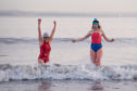 Gilly McArthur and Lindsey Cole take to the sea off Edinburgh