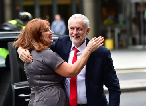 Jeremy Corbyn and top aide Karie Murphy