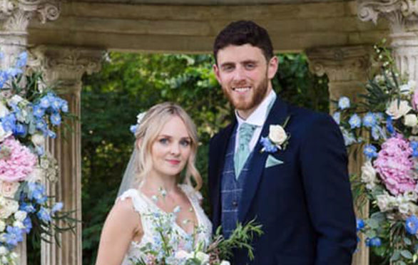 A photo of PC Andrew Harper and his wife  Lissie released yesterday