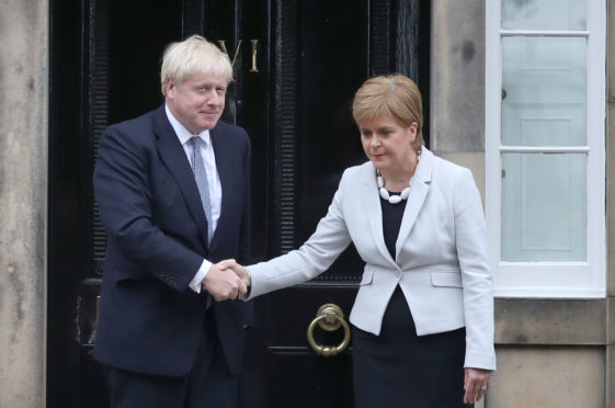 Nicola Sturgeon meets Boris Johnson for the first time since he became Prime Minister