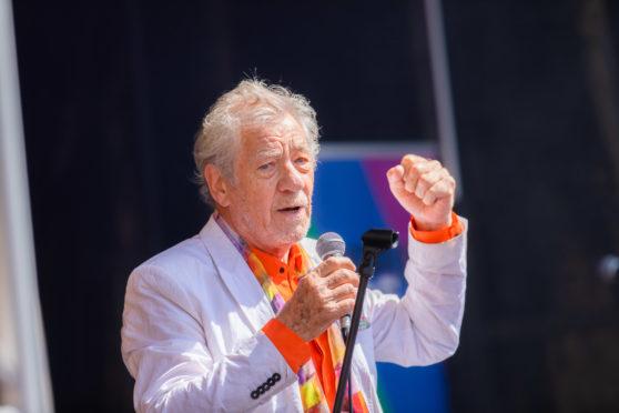 Sir Ian in Perth yesterday