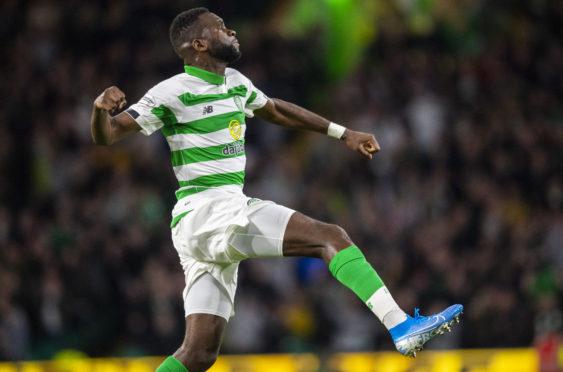 Celtic's Odsonne Edouard celebrates making it 2-0