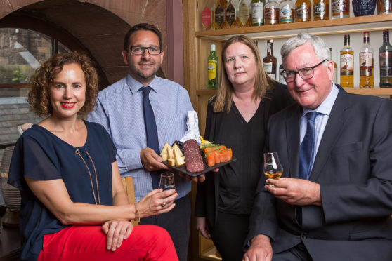 L-R: Fiona Richmond /James Withers / Wendy Neave / Fergus Ewing, MSP