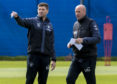 Rangers boss Steven Gerrard and assistant Gary McAllister will put their game plan into operation at Rugby Park today
