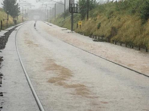 Flooding between Carlisle and Lockerbie