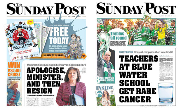 Our front pages on mesh and blue water
