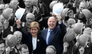 Nicola Sturgeon and Jim McColl celebrate ill-fated Ferguson's deal in August 2015