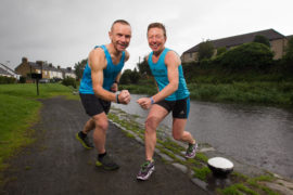 Shona Young and brother Paul have run more than 100 marathons each.