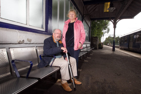 John and Sheila McEwan were removed from the train they had been transferred to and left stranded at station