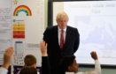 Boris Johnson on a visit to a London school