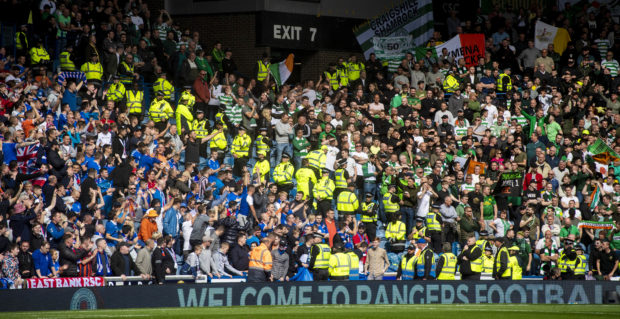 The Old Firm divide at Ibrox last Sunday during the first Premiership clash of the season