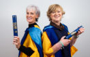 Judy and Corinne with their honorary degrees