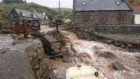 Flooding in Crovie