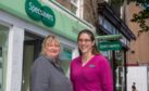 Optometrist Kirsty Bidgood and Alison Wright at Specsavers St Andrews