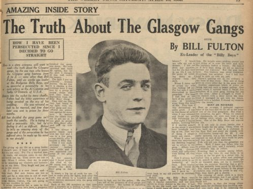 Bleed all about it: Notorious Glasgow razor king Billy leading Peaky Blinder mobsters tells all in 1932 Weekly News article - Sunday Post