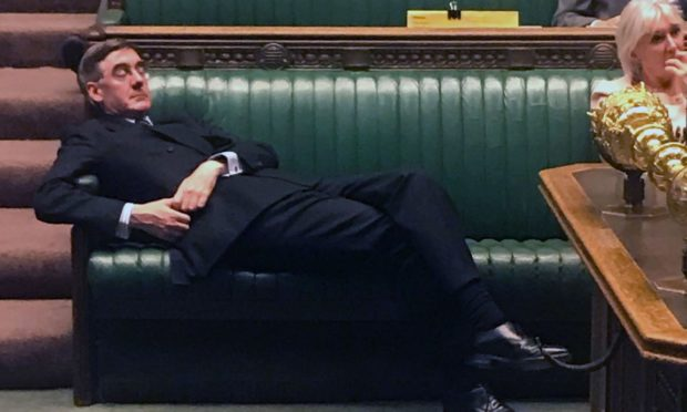 Jacob Rees-Mogg in the Commons last week