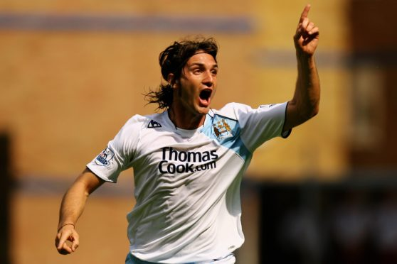 Rolando Bianchi in action for Manchester City in 2007