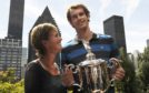 Judy and son Andy in New York after his US Open win in 2012