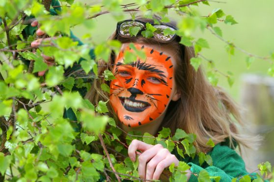 Christina Owen, a teacher at Forfar Academy at a fun day at Murton Farm, a sprawling nature reserve outside Forfar