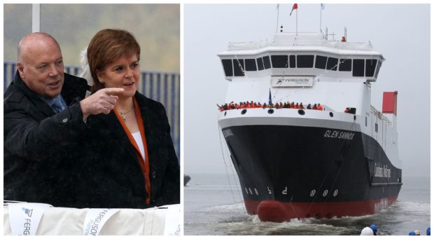 First Minister launched new Arran ferry at Ferguson shipyard with painted-on 'windows' - Sunday Post