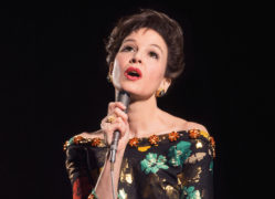 Oscar-winning actress Renee Zellweger in character as Judy Garland in a new biopic which is based on the true story of the Hollywood icon's final concerts in London.