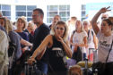 British travellers stranded at Antalya Airport in Turkey on Monday after the collapse of tour operator Thomas Cook