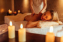 Enjoying a massage at a spa