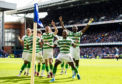Celtic celebrate their win over Rangers at the beginning of last month