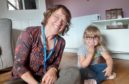 Four year old Ella Robertson with Teacher of the Deaf, Catherine