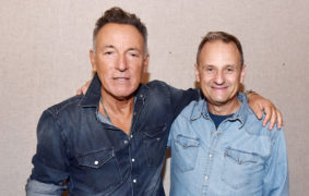 Bruce Springsteen with Mark Radcliffe from BBC Radio 6 Music