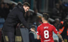 Rangers' Ryan Jack (right) celebrates his goal with manager Steven Gerrard