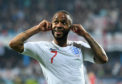 Raheem Sterling reacts to being racially abused in Montenegro back in March