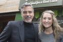 Alice meets George Clooney at Social Bite in Edinburgh
