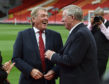 Kenny Dalglish and Alex Ferguson share a joke