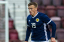 Lewis Ferguson in action for Scotland under-21s