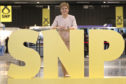 First Minister Nicola Sturgeon visits the trade stands at the 2019 SNP autumn conference at The Event Complex Aberdeen.