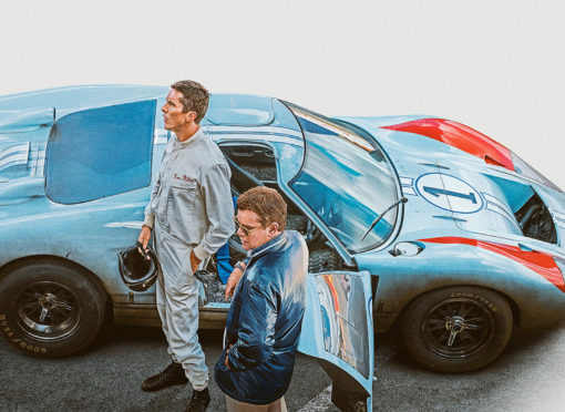 Christian Bale (left) and Matt Damon in Le Mans 66