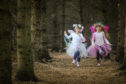 Little fairies at Brechin Castle.