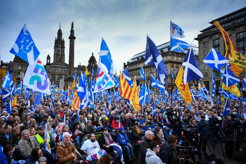 The rally at George Square
