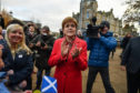 First Minister Nicola Sturgeon on the campaign trail
